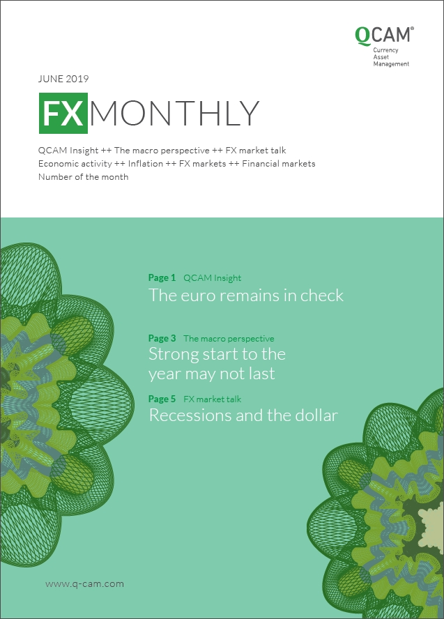 The euro remains in check. Strong start to the year may not last. Recessions and the dollar