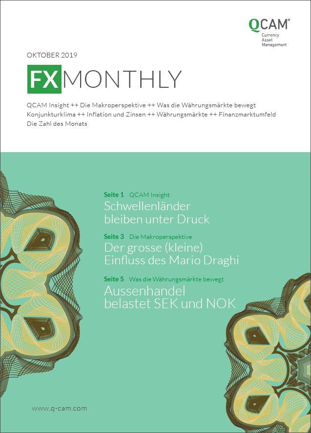 Schwellenländer bleiben unter Druck. Der grosse (kleine) Einfuss des Mario Draghi. Aussenhandel belastet SEK und NOK