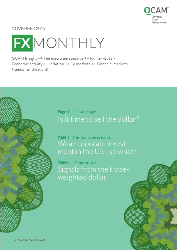 Is it time to sell the dollar? / Weak corporate investment in the US – so what? / Signals from the trade-weighted dollar